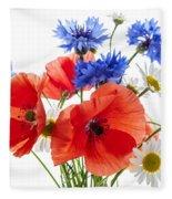 Wildflower Bouquet Fleece Blanket