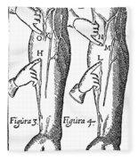 William Harvey: Blood, 1628 Fleece Blanket