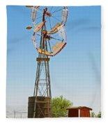 Wind Mills In West Texas Fleece Blanket