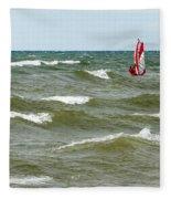Wind Surfing Fleece Blanket