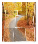 Winding Alley In Fall Fleece Blanket