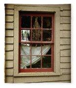 Window - Glimpse Into The Past Fleece Blanket