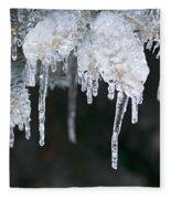 Winter Branches In Ice Fleece Blanket