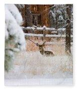 Winter Doe Fleece Blanket