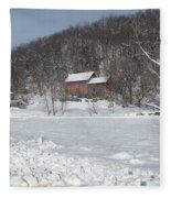 Winter Farm Fleece Blanket