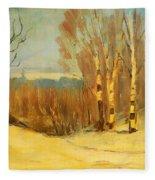 Winter Near Montreal Fleece Blanket