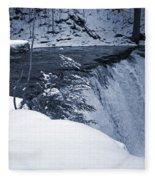 Winter Waterfall Snow Fleece Blanket