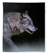 Wolf On The Prowl Fleece Blanket