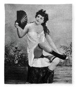 Woman And Fan, C1887 Fleece Blanket