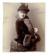 Women's Fashion, 1890 Fleece Blanket