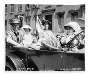 Women's Suffrage, 1913 Fleece Blanket
