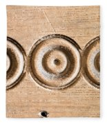 Wood Carving Fleece Blanket