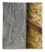Wood Concrete And Steel In Color Fleece Blanket