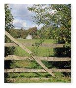Wooden Gate Sussex Uk Fleece Blanket
