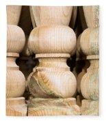 Wooden Posts Fleece Blanket