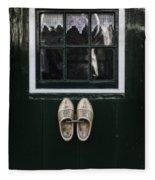Wooden Shoes Fleece Blanket