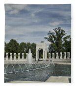 World War 2 Memorial Fleece Blanket