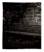 Ye Olde Bench In Bakewell Town Peak District - England Fleece Blanket