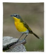 Yellow-breasted Chat Fleece Blanket