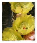 Yellow Cactus Fleece Blanket