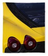 Yellow F430 Fleece Blanket