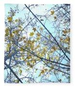 Yellow Leaves Vintage Fleece Blanket