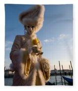 Venetian Carnival. Yellow Rose Charmer By Zina Zinchik Fleece Blanket