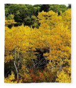 Yellow Trees  Fleece Blanket