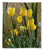 Yellow Tulips At The Arboretum Fleece Blanket