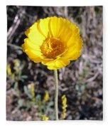 Yellow Wildflower Fleece Blanket