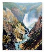 Yellowstone Canyon Yellowstone Np Fleece Blanket