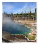 Yellowstone Park - Geyser Fleece Blanket