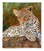 Young Leopard Fleece Blanket