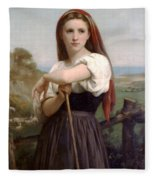 Young Shepherdess Fleece Blanket