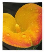 Zantedeschia Named Flame Fleece Blanket