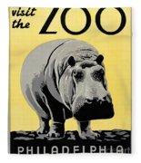 Zoo Poster C1936 Fleece Blanket