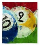 10 9 8 Billiards Abstract Fleece Blanket