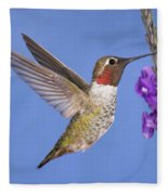 Annas Hummingbird Fleece Blanket