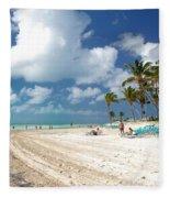 Beach At Coco Cay Fleece Blanket