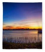 Bridge Of Lions St Augustine Florida Painted  Fleece Blanket