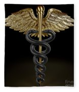 Caduceus Fleece Blanket