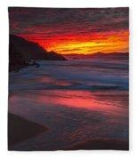 Campelo Beach Galicia Spain Fleece Blanket