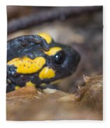 Fire Salamander Fleece Blanket