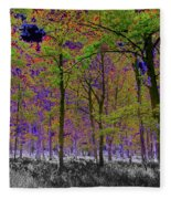 Forest Art Fleece Blanket