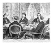 Johnson Impeachment, 1868 Fleece Blanket