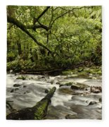 Jungle Stream Fleece Blanket