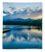 Lake Santeetlah In Great Smoky Mountains North Carolina Fleece Blanket