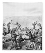 Little Bighorn, 1876 Fleece Blanket