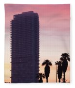 Low Angle View Of An Office Building Fleece Blanket