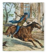 Paul Reveres Ride Fleece Blanket